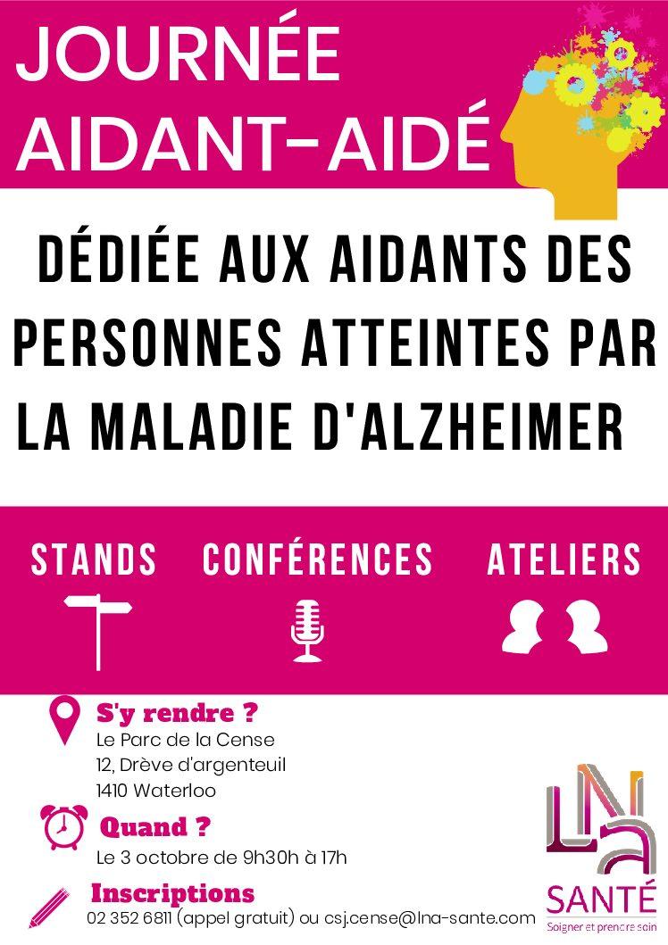3 octobre: journée aidant-aidé autour de la maladie d'Alzheimer (Waterloo)